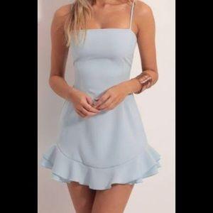 LUCY IN THE SKY BLUE TIE DRESS